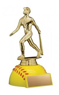 """Softball Figure on Softball Base, 6.5"""""""
