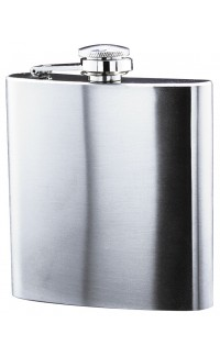Flask Satin Finish Stainless Steel, 6 oz