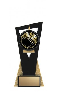 "Solar Series Stand, Black/Gold, 7"" with Football Insert"