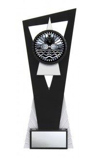 """Solar Series Stand, Black/Silver, 9"""" with Swimming Insert"""