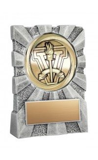 """Insignia Series Resin Stand with Gold Medal, 3 3/4"""""""