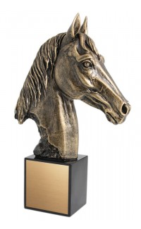 "Horse Head Resin, 8 1/2"""