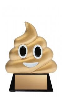 """Poop Emoji Resin 4.25"""""""