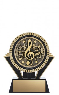 "Apex Music, 5"" Black/Gold"