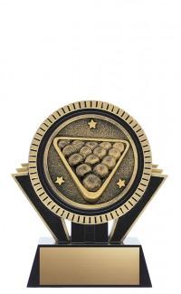 "Apex Billiards, 5"" Black/Gold"