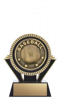 "Apex Baseball, 5"" Black/Gold"