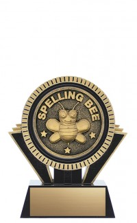 "Apex Spelling Bee, 5"" Black/Gold"