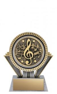 "Apex Music, 5"" Antique Silver/Gold"
