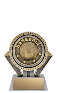 """Apex Baseball, 5"""" Antique Silver/Gold"""