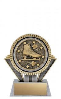 "Apex Figure Skating, 5"" Antique Silver/Gold"