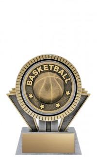 "Apex Basketball, 5"" Antique Silver/Gold"