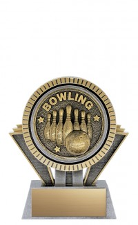 """Apex 10-Pin Bowling, 5"""" Antique Silver/Gold"""