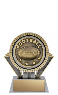 "Apex Football, 5"" Antique Silver/Gold"