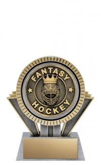 "Apex Fantasy Hockey, 5"" Antique Silver/Gold"