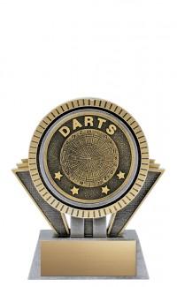 "Apex Darts, 5"" Antique Silver/Gold"