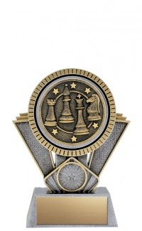"""Apex Chess, 6"""" Antique Silver/Gold"""