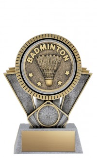 "Apex Badminton, 6"" Antique Silver/Gold"