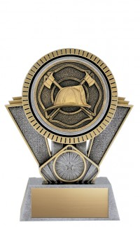 """Apex Firefighter, 6"""" Antique Silver/Gold"""