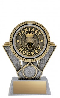 "Apex Fantasy Hockey, 6"" Antique Silver/Gold"