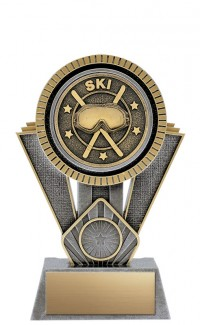 "Apex Ski, 7"" Antique Silver/Gold"