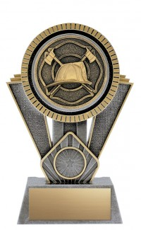"""Apex Firefighter, 7"""" Antique Silver/Gold"""