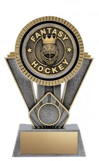 "Apex Fantasy Hockey, 7"" Antique Silver/Gold"