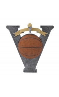 RESIN VICTORY PLAQUE RELIEF BASKETBALL