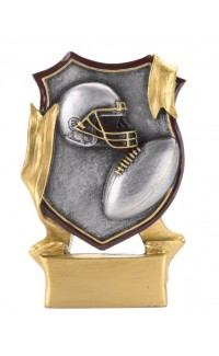 RESIN SHIELD FOOTBALL SMALL